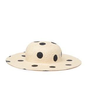 NWT Betsy Johnson Polka Dot Hat